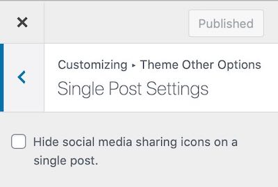Single Post Settings
