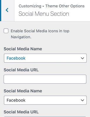 Social-menu-section