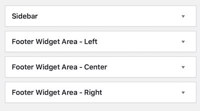 Widget Areas