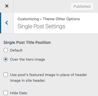 Single-post-settings