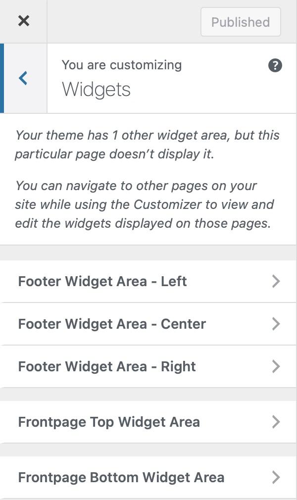 Widget-Areas