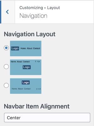 Navigation Layout