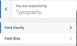 Typography Options