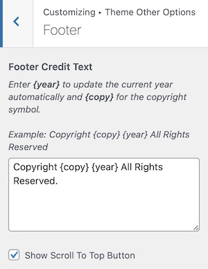 Footer Credit Text