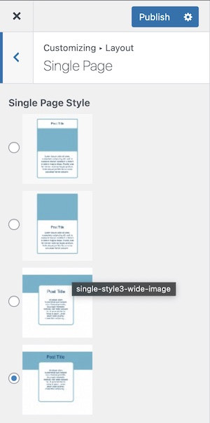 Single Page Layout